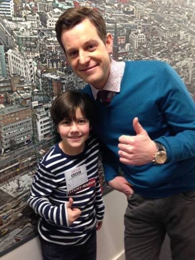 Matt Baker calming my nerves