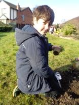 Planting at school