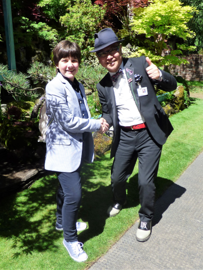 Me and Mr Ishihara - the coolest gardener in town!