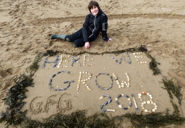 Here I grow in 2018 - Mossyard Beach, Dumfries