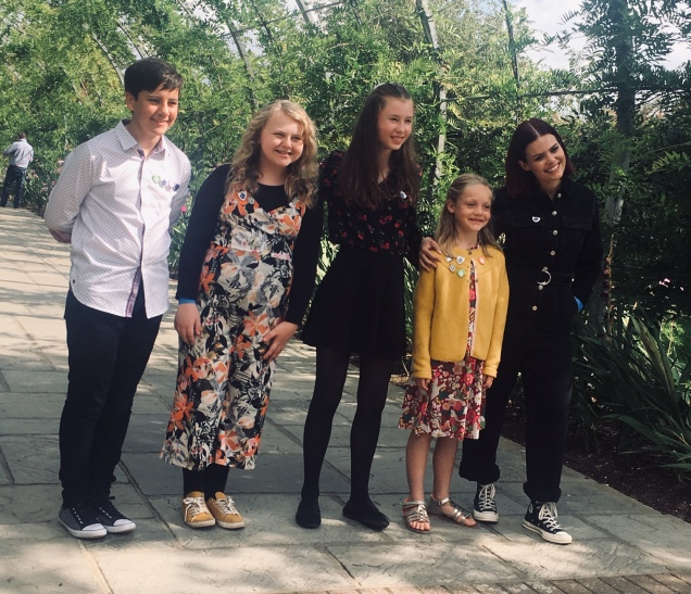 Me, Megan, Jess, Lucy & presenter, Lindsey