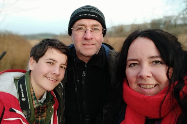 Selfie not taken in our garden, but at at RSPB Leighton Moss Dec 2019